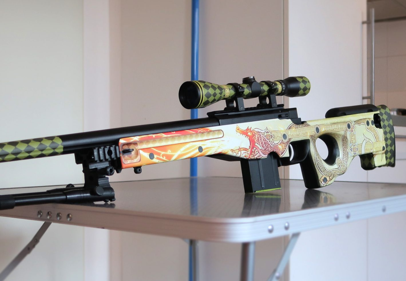 Awp Dragon Lore Vinyl Decal For L96 Airsoft Models Silo