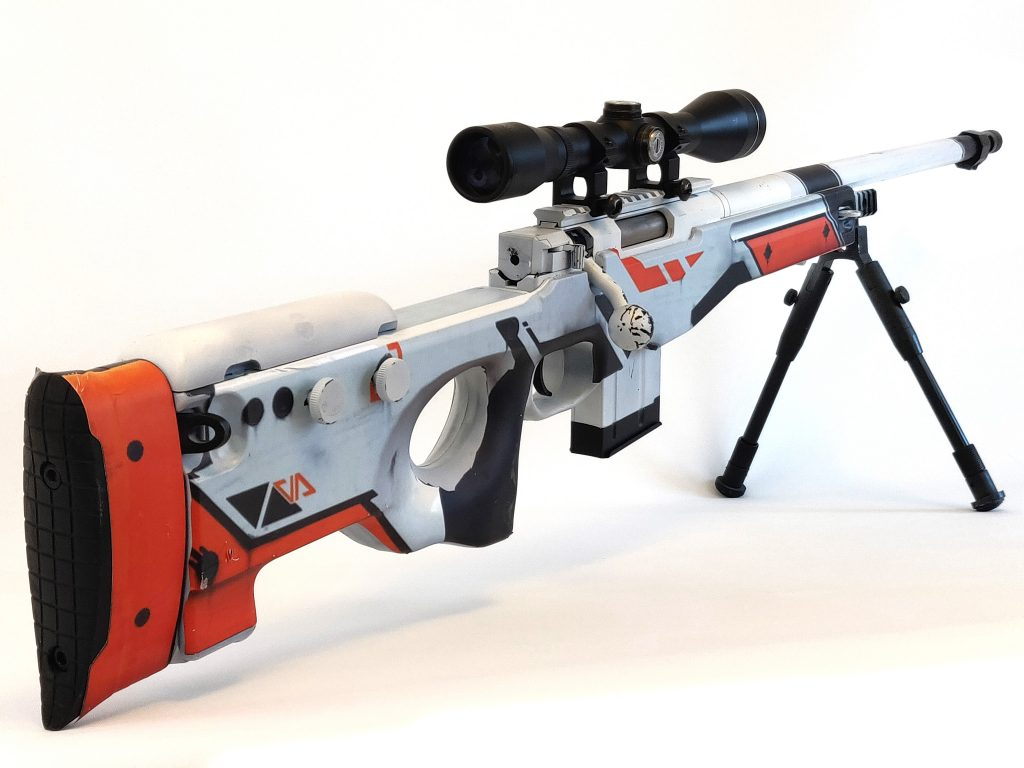Awp Asiimov Vinyl Decal For L96 Airsoft Models Silo